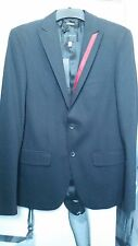 "MEN ""JOHN RICHMOND"" BLAZER BLACK 50% ROCK 50% ROLL SLIM FIT IT 48 GB 16  £ 992.0"