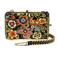 Mary Frances Blossoms Black Handbag Beaded Bag New