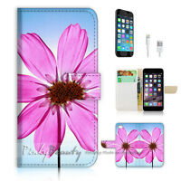 ( For iPhone 7 ) Wallet Case Cover P1282 Flower