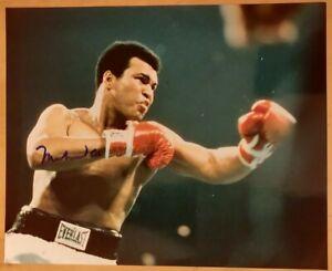 Muhammad Ali original Autogramm Großfoto GF 20x25 cm signiert signed US COA