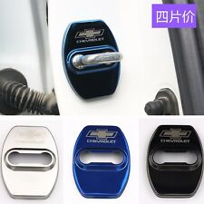 Blue Black Silver Door Strikers Lock Buckle Cap Protective Cover For Chevrolet