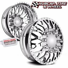 "AMERICAN FORCE EVO 26""x8.25 POLISHED DUALLY WHEELS RIMS (SET OF 6) CHROME"