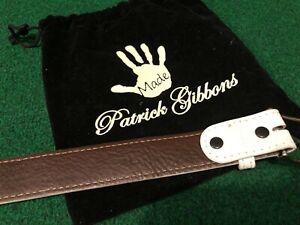 Patrick Gibbons Handmade, White Lizard Belt, 32 Waist, Mens