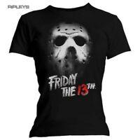 Official Ladies Skinny T Shirt FRIDAY 13th Slasher Horror MASK Jason All Sizes