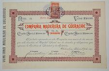 MEXICO I/1 Compañía Maderera de Güerachic una acción de $50 pesos 1897 (only100)