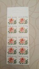 Feuillet de 10 timbres belges non oblitérés FLEURS LES OEILLETS