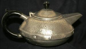 Vintage Art Deco Pewter Teapot - Craftsman, Sheffield - Viners