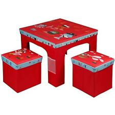 Rexco Childrens Kids Toddler Square Folding Pirate Design Table and Chairs Stool