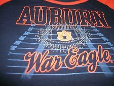 "NEW Auburn AU ""WAR EAGLE"" Girls Jeweled Youth Size L 12/14 T-Shirt (B38)"
