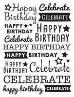 Balloons embossing folder Darice embossing folders 30032597 Birthday Celebration
