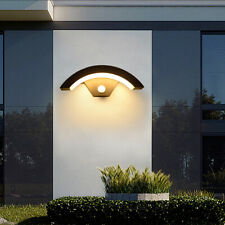 More details for 12w outdoor led wall light waterproof hallway stairs night lamp pir sensor