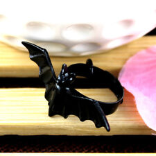 New Women Jewelry Wholesale Black Bat Personality Adjustable Ring Animal Ring Eb