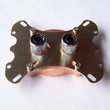 CPU Water Cooling Block Copper Waterblock 60mm Compression Fitting Intel AMD W01