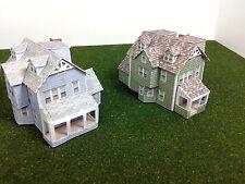 Z Scale Buildings Houses (2 pcs) - Card Stock Model Kit GW2
