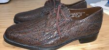Saville Row Brown Leather Formal Shoes Size 8.5 *C1+