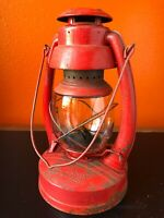 Vintage Lantern VAN CAMP No. 180 Air Pilot Barn Kerosene Oil Lamp Light Globe