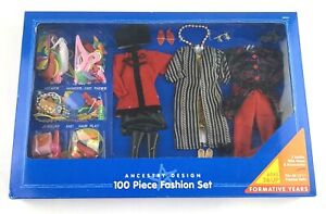 New Playskool Fashion Doll Ancestry Design Outfits 100 Pc Accessories VTG 1994