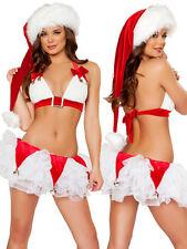Sexy Women's Xmas Santa Claus Costume Babydoll Lingerie Sleepwear Cosplay Dress