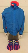 Vintage 1980s Columbia Bugaboo Neon Accented 3-in-1 Jacket Large & Gloves Medium