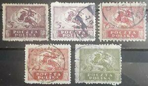 POLONIA 1919. LOTE DE SELLOS. USADO - USED.