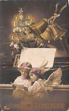BG4006 vrolijk kerstfeest christmas angel bell children   netherlands greetings