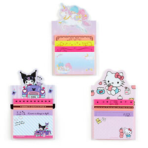 Japan Sanrio Hello Kitty / Kuromi / Little Twin Stars Sticky Note pad Tack Memo