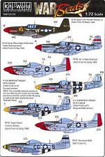 Kits World Decals 1/72 NORTH AMERICAN P-51 MUSTANG Fighter 7 NOSE ART VERSIONS!