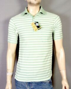vintage 70s NOS Deadstock Sears Kings Road Polo Shirt Crown Bob Griese Ad Tag S