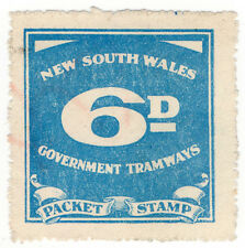 (I.B) Australia - NSW Government Tramways : Parcel Stamp 6d