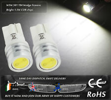 T10 W5W Wedge 501 LED COB Xenon White Side Parking Lights License Plate Bulbs