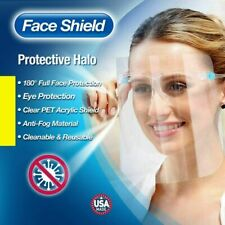 Full Face Shield Clear Glass Protector Clear Safety Eye Cover Reusable Helmet