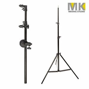 Meking 175cm Rotating Head Reflector Panel Boom Arm Support & 200cm Light Stand