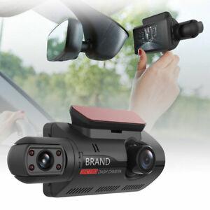 3'' Dual Lens Car Dash Cam DVR Video Recorder G-Sensor 1080P Front & Rear Camera