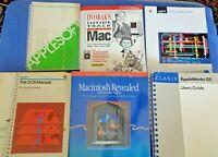 Vintage Apple Macintosh Reference Manual Computer Books Manuals Group Lot 7 Set