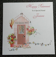 HANDMADE PERSONALISED RETIREMENT CARD,RETIREMENT SHED..OTHER OCCASIONS AVAIL