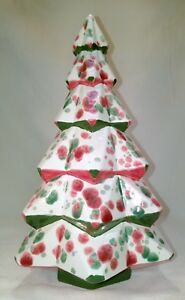 """10"""" Ceramic Mayco Faceted Christmas Tree"""