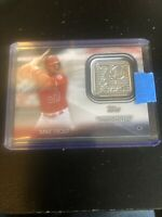 2021 Topps Series 1 Mike Trout 70th Anniversary Relic Logo Patch #70LP-MT Angels