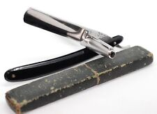 German old Straight razor. 862 5/8 OSCAR Red. SHAVE READY.