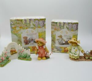 Cherished Teddies #CT023 & #CT021 Membears Only Figures With Box 2002 Lot of 2