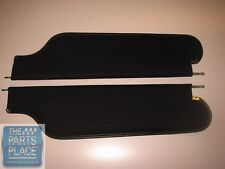 1969 Camaro / Firebird Coupe Sunvisors - Pair - Black Bedford GM # 8765289
