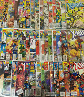 Huge 90 Issue X-Men Comic Book Lot Wolverine Cyclops & More Marvel Comics BBX17