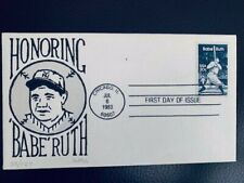 US, FDC #2046 Babe Ruth Hand Designed Unknownt artist