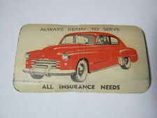 Early 1950's Car Insurance Agency Business Card Milwaukee Wi  T*