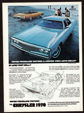 1970 CHRYSLER Newport sedan & convertible Vintage Original Print AD - blue photo