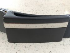 Black Mens Canterbury Golf Genuine Leather Belt w/Buckle Size 34