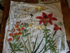 """Pottery Barn """"Floral Botanical - Lily"""" Euro Pillow Sham"""