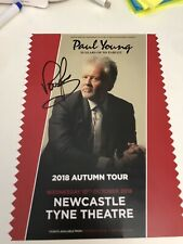 More details for paul young - tyne theatre newcastle 2018 signed flyer