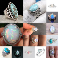 Magnificent Gemstone 925 Silver Ring Woman Men Engagement Wedding Party Gift