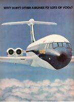 1967 Original Advertising' Vintage Boac British Overseas Airways VC10s