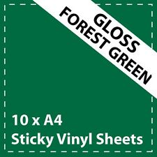 Craft Robo 10 x A4 Gloss Brown Sticky Vinyl Sheets CriCut /& Crafts